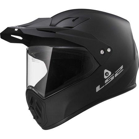 LS2 Helmets Ohm Solid Adventure Motorcycle Helmet with Sunshield (Matt Black, (Best Adventure Motorcycle Helmet)