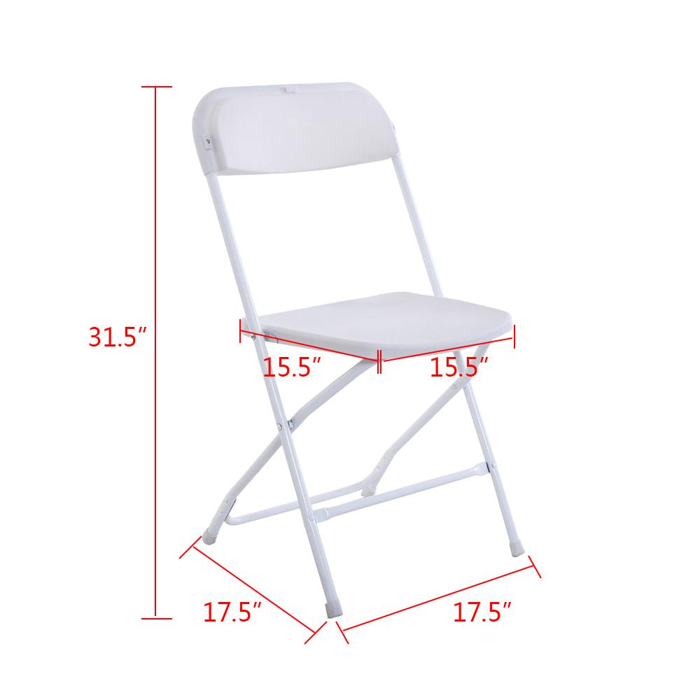 5 Black Commercial Quality Stackable Plastic Folding Chair Wedding Party Chairs