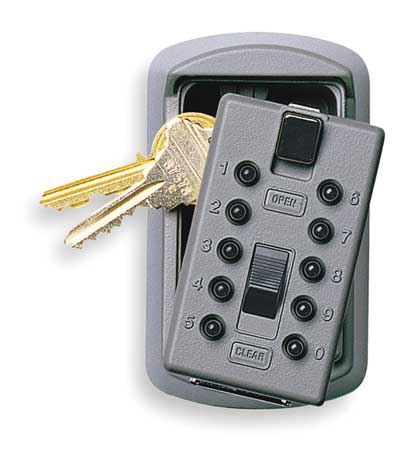 Kidde AccessPoint 001170 KeySafe Original Slimline Push Button Combination Permanent Key Lock Box, 2-Key, Gray
