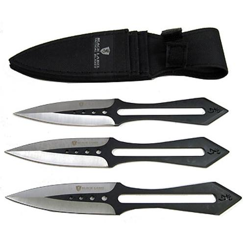Browning Black Label Stick-It Throwing Dagger Set of 3 Knives 4 Inch Double Edge