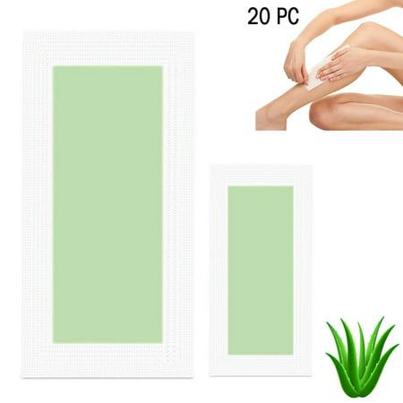 20 Pack Hair Removal Wax Strip Kit Bikini Legs Face Body Underarm Assorted (Best Wax For Underarm Hair)