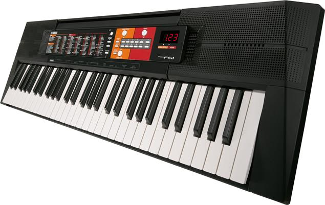 Yamaha PSR-F51 Starter 61-Key Portable Keyboard w  SK A2 Survival Kit by Yamaha