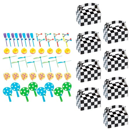 Racecar Racing Party Filled Favor Box Kit (For 8 Guests) - Favors For Wedding Guests