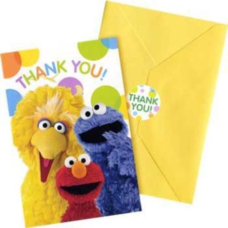 Sesame Street Thank You Notes (8-pack) - Party Supplies