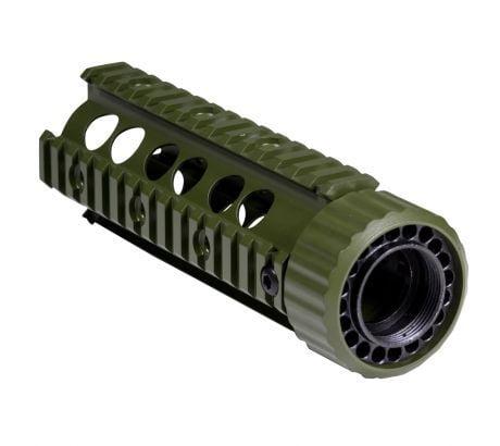 Firefield Carbine 6.9 Inch Floating Quad Rail Olive Drab