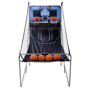 ZENSTYLE 2-Player 8-in-1 Indoor Arcade Basketball Game Dual LED Scoreboard Folding Electronic Basketball Game w/ 4 Balls Inflation Pump - Kids Home Pro Basketball Hoop Stand System