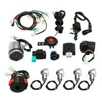 Full Electric Start Engine Wiring Harness Loom For CDI 110cc 125cc Quad Bike ATV