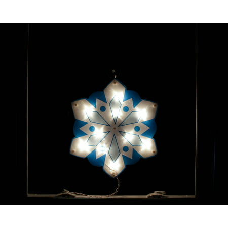 14 lighted holographic snowflake christmas window for 16 lighted snowflake christmas window silhouette decoration