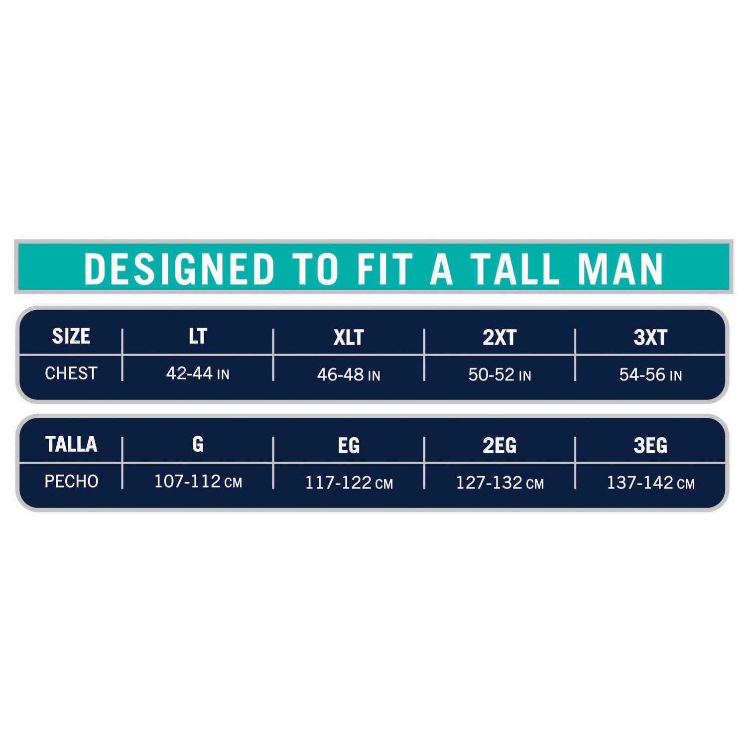 Fruit Of The Loom Tall Mens Collection White Crews Extended Sizes