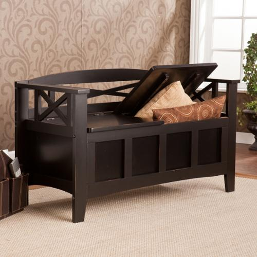 Harper Blvd  Lumsden Black Storage Bench