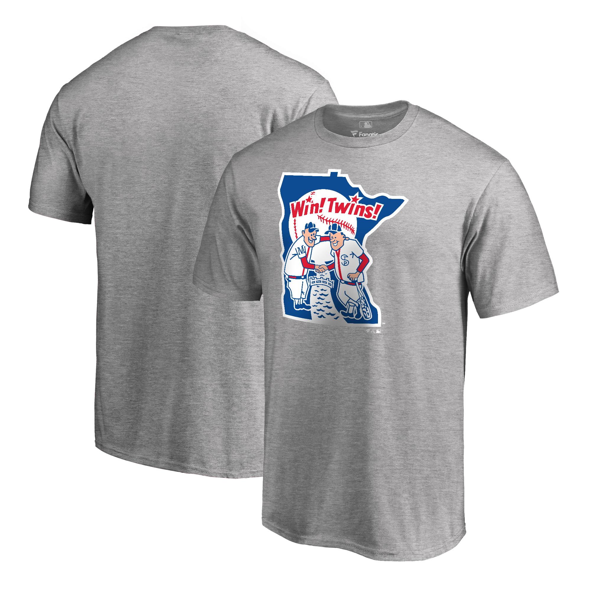 Minnesota Twins Fanatics Branded Big & Tall Cooperstown Collection Huntington T-Shirt - Ash