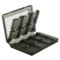 Insten 24-in-1 Game Card Case For Nintendo NEW 3DS / 3DS / DSi / DSi XL DSi LL / 3DS XL LL / DS / DS Lite NDS Game Storage Holder Smoke