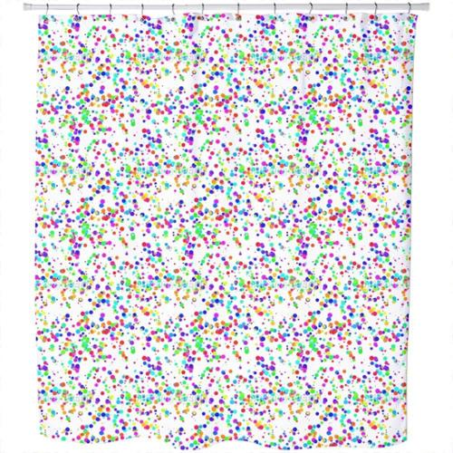 Uneekee Miscellaneous Colored Confetti Shower Curtain
