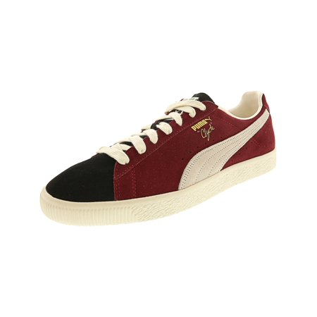 brand new 20727 734d2 Puma Men's Clyde From The Archive Black / Cordovan Whisper White Ankle-High  Suede Fashion Sneaker - 11.5M