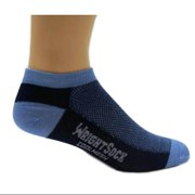 504 Double Layer Coolmesh Low Quarter Sock, Navy / Carolina, Small