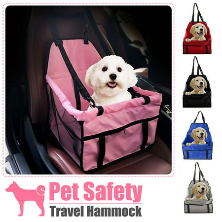 Foldaway Pet Carrier (Portable Folding Pets Dogs Cats Car Seat Safe Carrier Beds Puppy Belt Bag Foldable Travel Hammock Pet Sleeping for Outdoor)