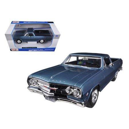 - 1965 Chevrolet El Camino Blue 1-25 Diecast Car Model