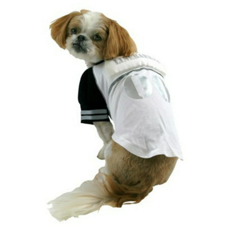 Linebarker Dog Costume Padded Line Backer Pet Tee Halloween Football T-Shirt (Dog Football Costumes Halloween)