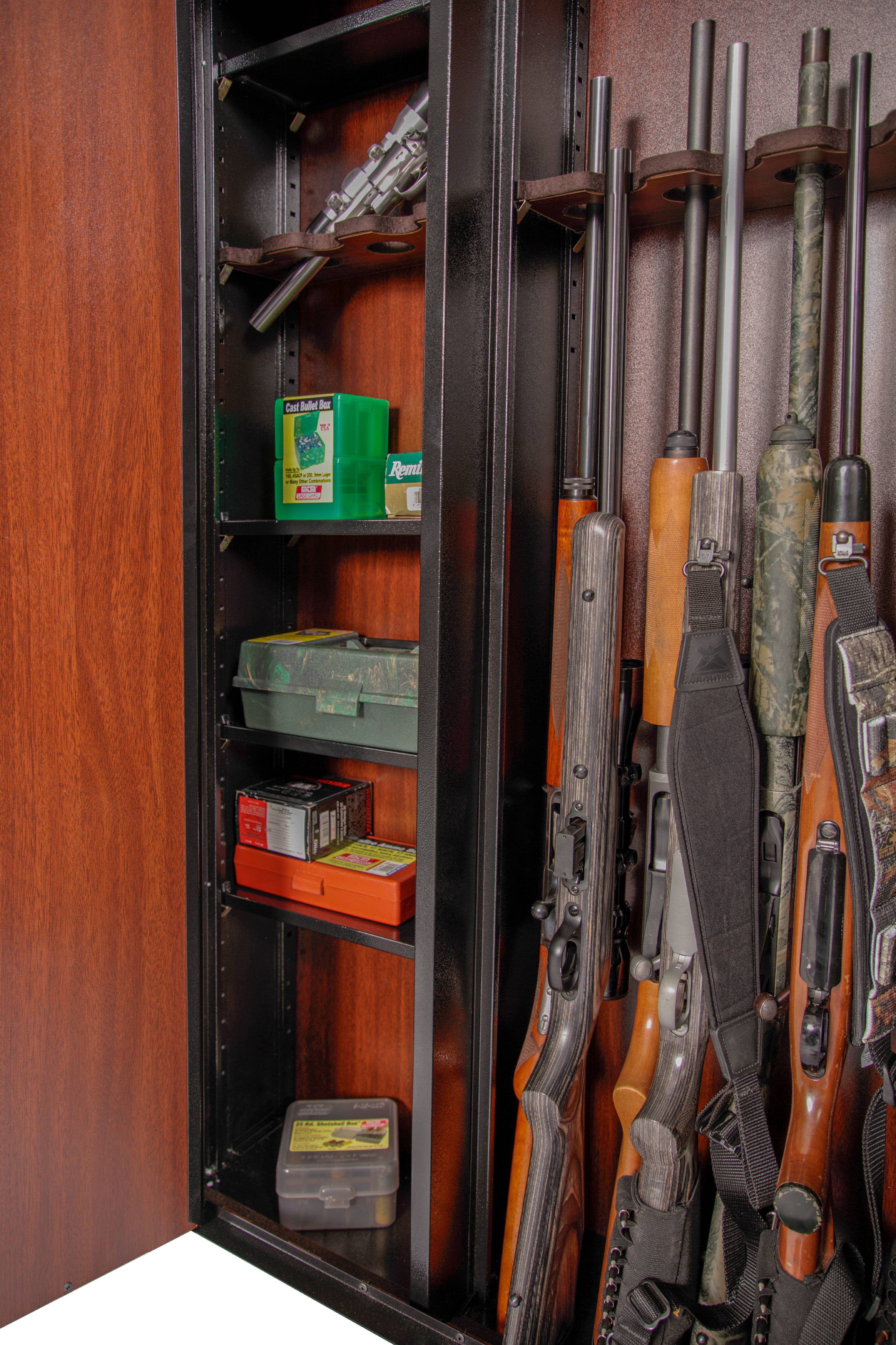 American Furniture Classics Woodmark Series 16-Gun Cabinet ...