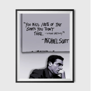Michael Scott Wayne Gretzky Quote Poster 11x17