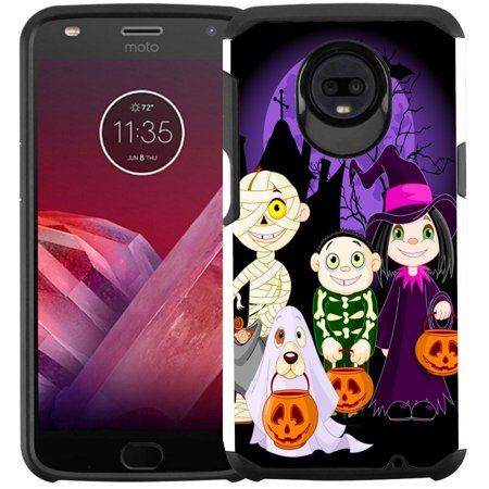 Slim Hybrid Case Phone Case for Motorola Moto E4 - Halloween 2018](Halloween Phone)