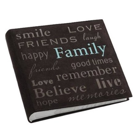 Pioneer Faux Brown Suede Photo Album, 200 Photos, 4 x 6 Inches - Graduation Photo Album