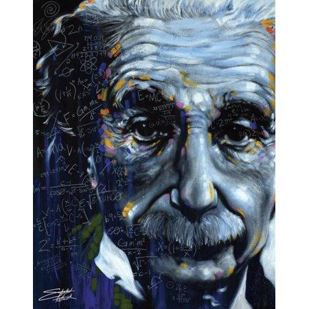 Albert Einstein Poster Card By Stephen Fishwick - 11x14