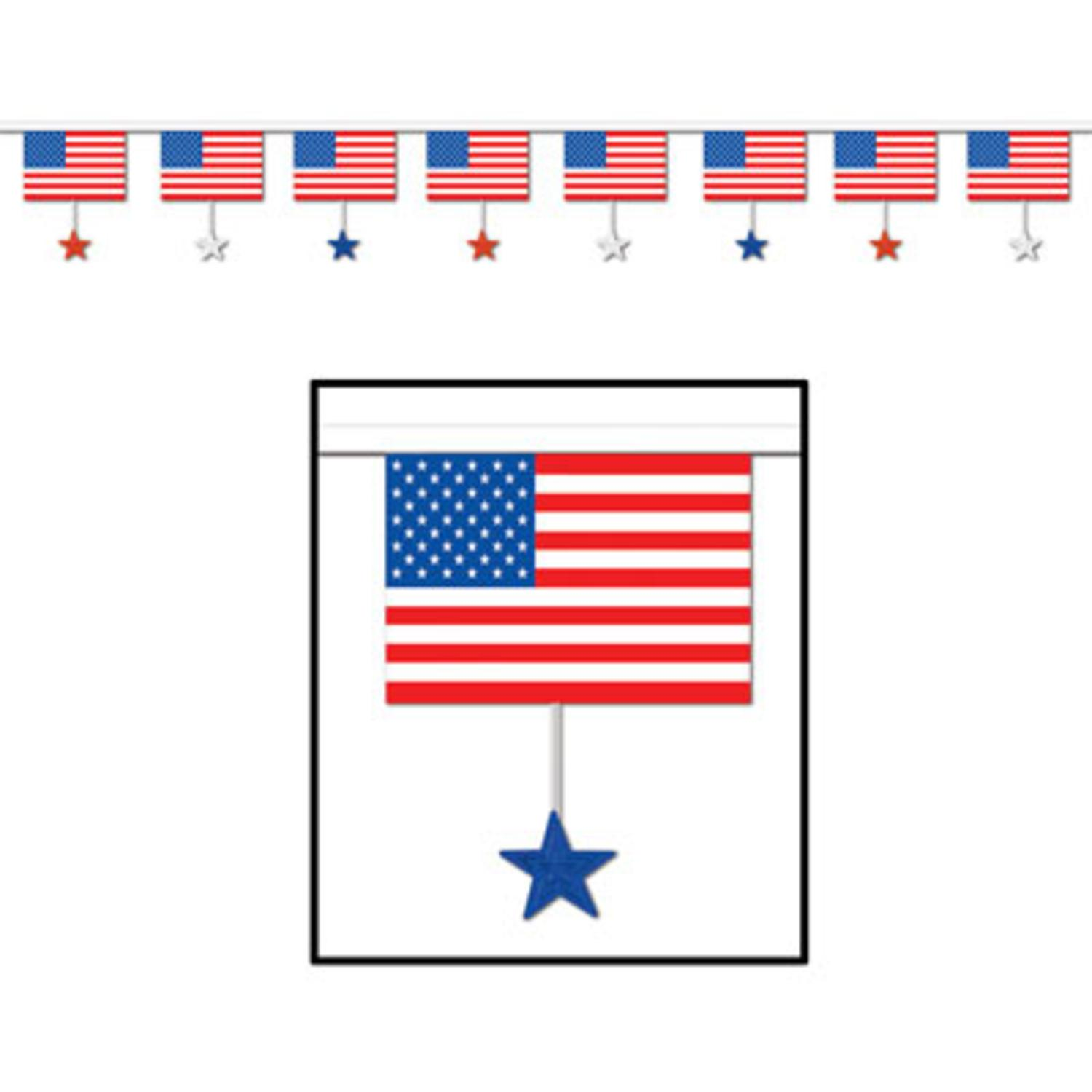 Pack of 12 Patriotic Red, White and Blue American Flag an...
