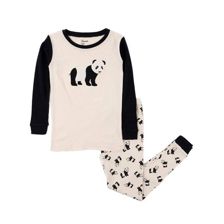 Leveret Kids & Toddler Pajamas Boys Christmas 2 Piece Pjs Set 100% Cotton (Panda, Size 6 Years)](Boys Christmas Jammies)