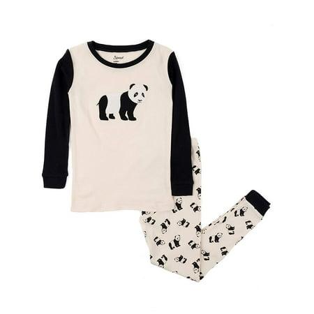 Leveret Kids & Toddler Pajamas Boys Christmas 2 Piece Pjs Set 100% Cotton (Panda, Size 6 -