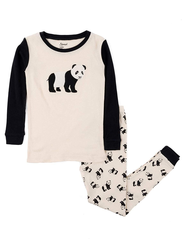 Leveret Kids & Toddler Pajamas Boys Christmas 2 Piece Pjs Set 100% Cotton (Panda, Size 6 Years)