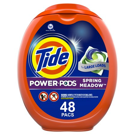 Tide Hygienic Clean Heavy 10x Duty Power PODS Spring Meadow Laundry Detergent Liquid Pacs - 48ct