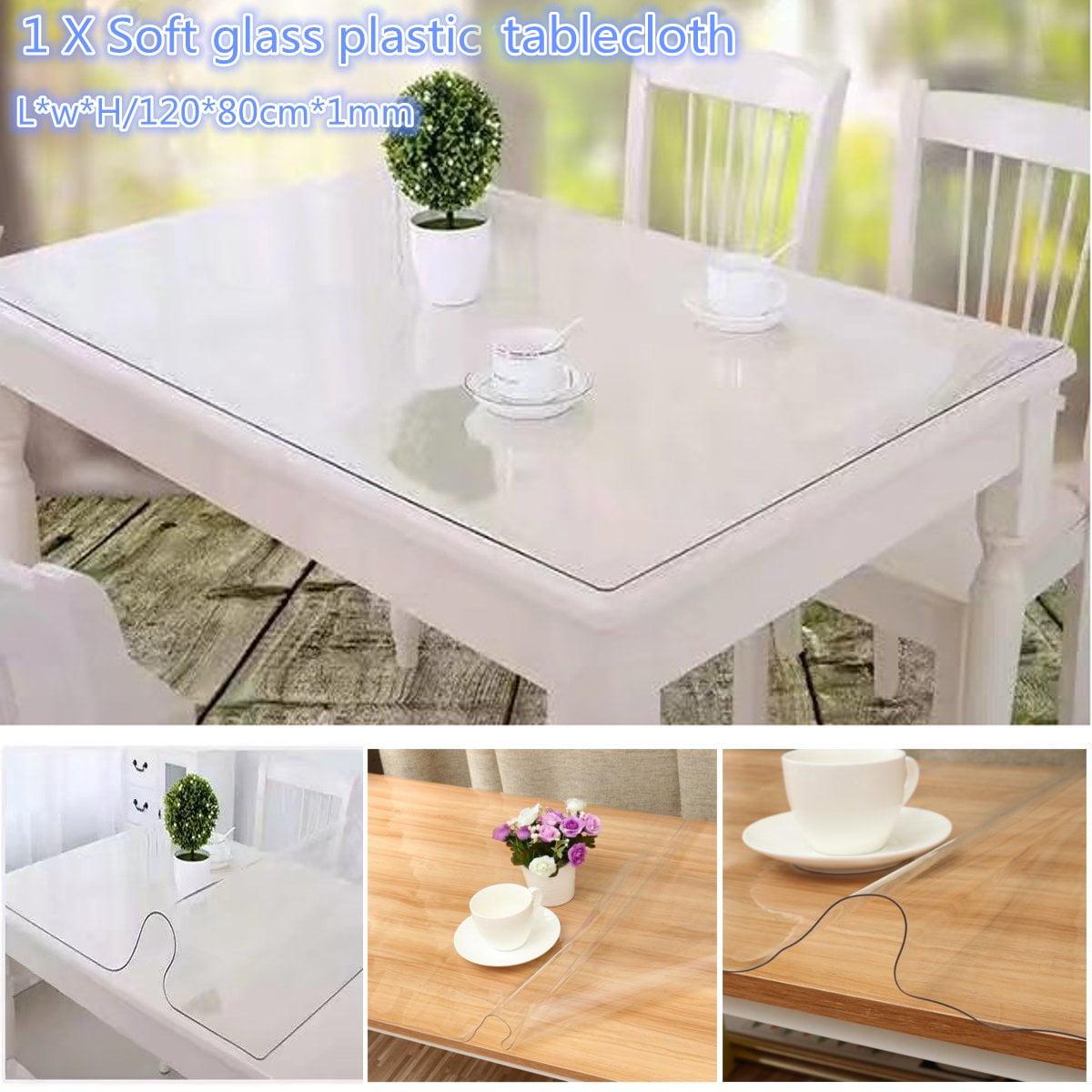 1x PVC Plastique Nappe Table Décor Fête Mariage Anniversaire Rectange 137x183cm