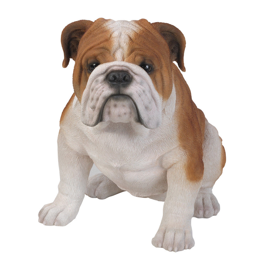 "18"" Tall Life Size English Bulldog Dog Figurine Statue"
