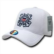 Rapid Dominance S002-COASTG-WHT Air Mesh Military Caps, Coast Guard, White