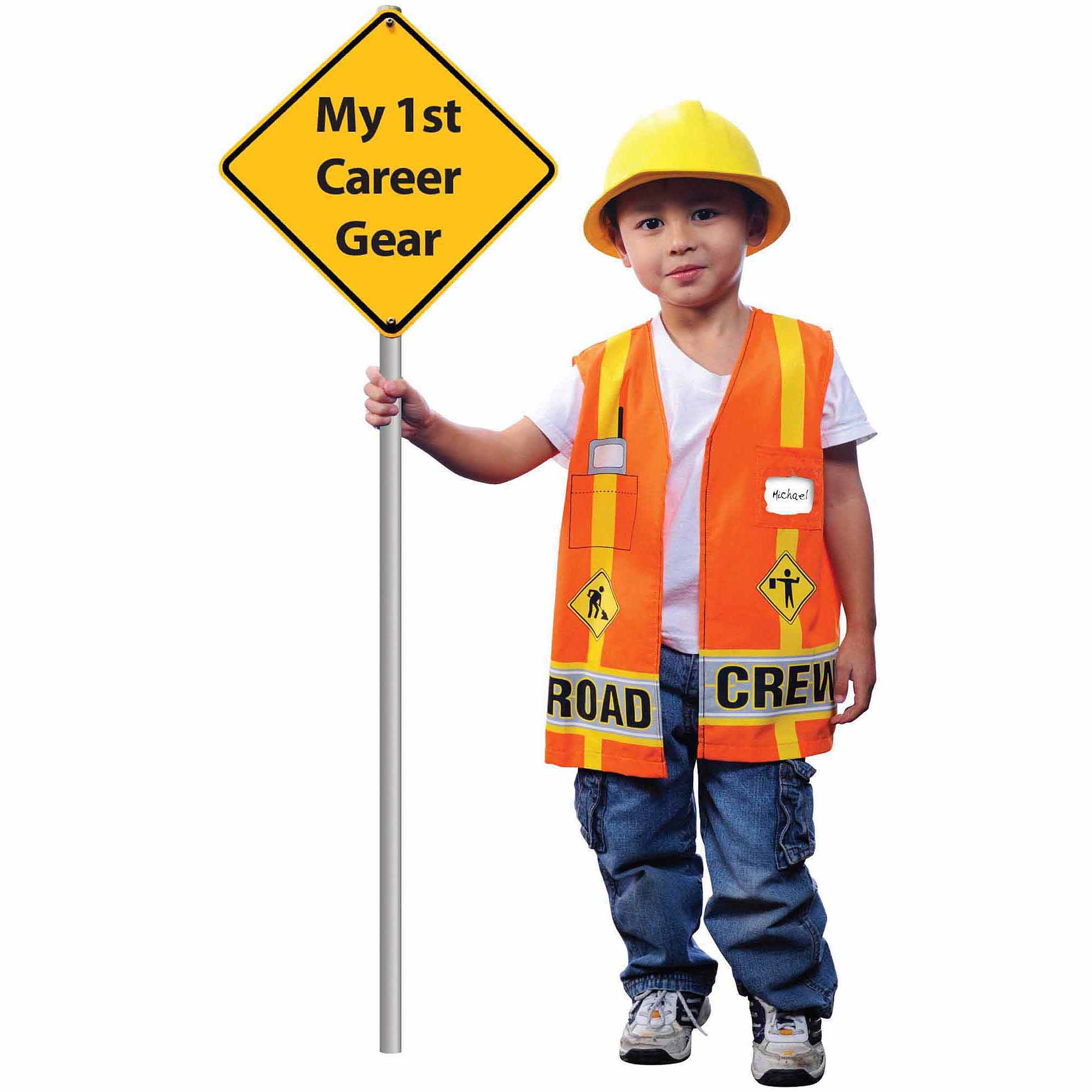 my first career gear road crew toddler halloween costume size 3t4t