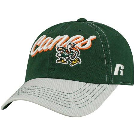 half off 85c0b 44150 Women s Russell Green Miami Hurricanes Sojourn Adjustable Hat - OSFA -  Walmart.com