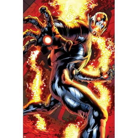 Avengers: Age of Ultron No.0.1: Ultron Running Print Wall Art By Bryan Hitch - Walmart.com