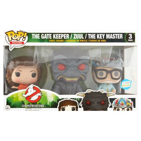 POP Movies: Classic Ghostbusters 3 Pack Walmart Exclusive, The Gatekeeper, Zuul, The Key Master