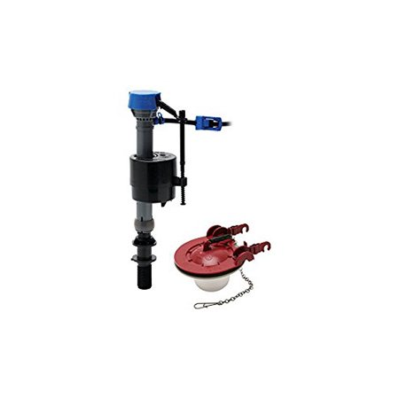Fluidmaster 400CAR3 High Performance Toilet Fill Valve and 3-inch Toilet Flapper Repair