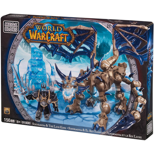 Mega Bloks World of Warcraft Sindragosa and the Lich King Play Set