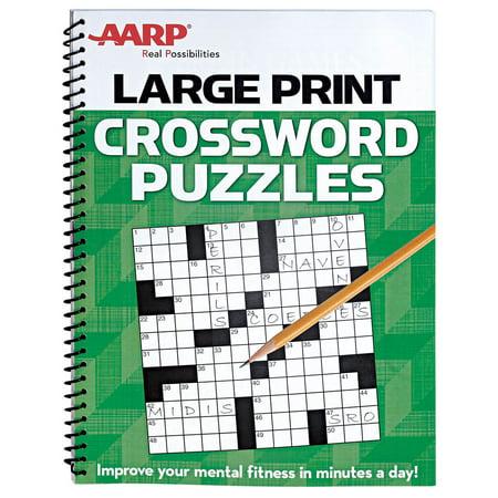 Aarp large print crossword puzzles for Garden pool crossword
