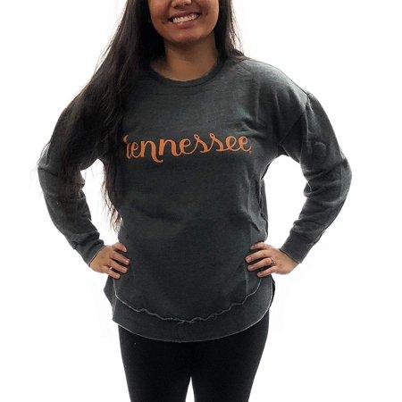 cdc19f4f Tennessee Volunteers Vols Womens Sweatshirt; Vintage Wash Pullover Poncho  University Apparel Clothing