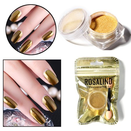 ROSALIND Women Mirror Powder Effect Chrome Nails Pigment Gel Polish DIY