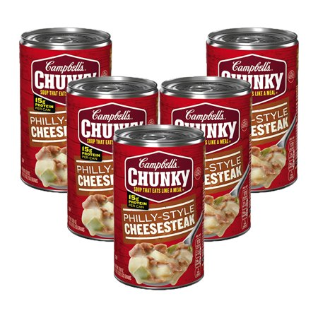 (5 Pack) Campbell's Chunky Philly Style Cheesesteak Soup, 18.8