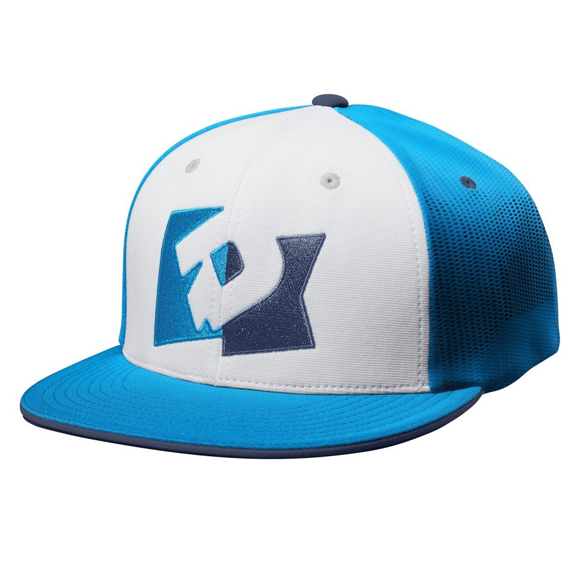 DeMarini D Pennant Flex Fit Hat - White Blue