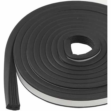 M-D Products 01033 Black Marine and Automotive EPDM Weatherstripping, 19/32u0022 x 10