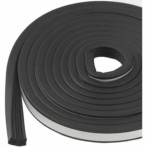 "M-D Products 01033 Black Marine and Automotive EPDM Weatherstripping, 19/32"" x 10'"