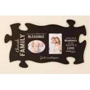 Plaque-Puzzle Piece-Frame-Cherish Family-Black (22 X 13)