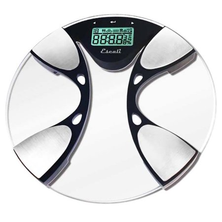 - Escali - Body Fat Body Water Digital Glass Bathroom Scale BFBW200